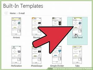 designing an email template - how to create an email newsletter in publisher 11 steps