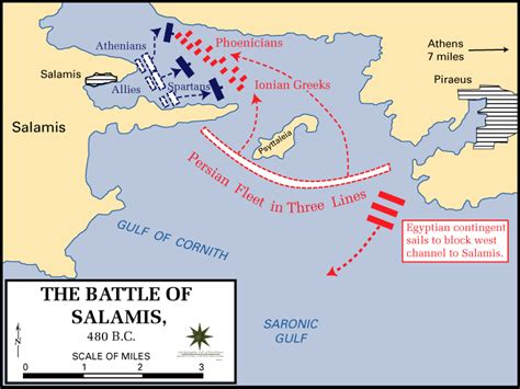Battle Of Salamis Map  The Core Curriculum