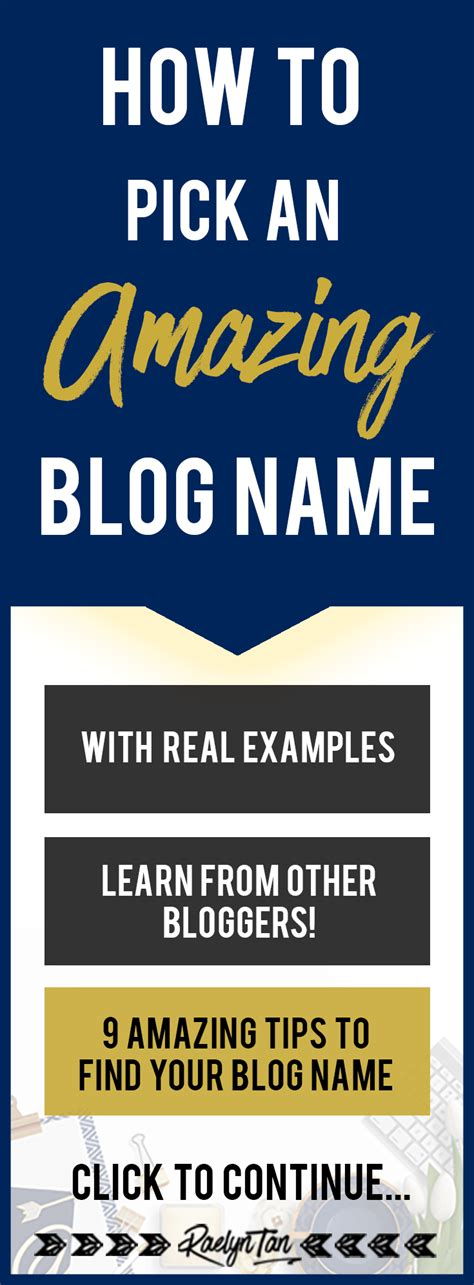 How To Pick An Amazing Blog Name (with Real Examples