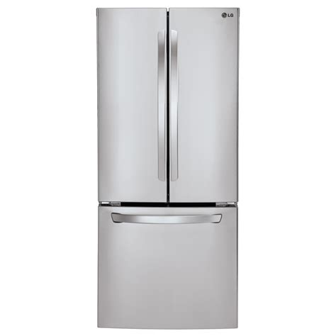 stainless steel door refrigerator shop lg 21 8 cu ft door refrigerator with maker