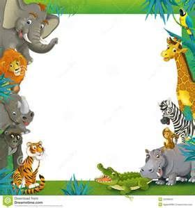 jungle animal page borders bing images ht pinterest