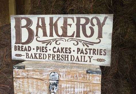 Kitchen Wood Signs Decor - large rustic wood sign quot bakery quot kitchen decor fixer