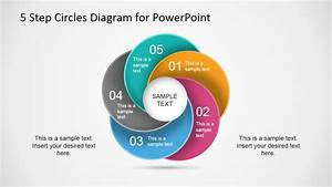 5 Step Circles Diagram For Powerpoint