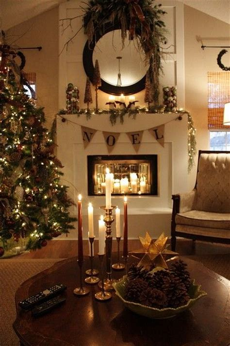 rustic christmas decor 30 adorable indoor rustic christmas d 233 cor ideas digsdigs