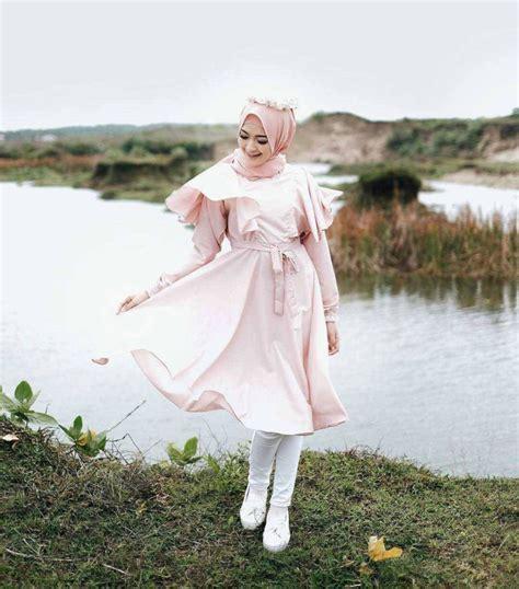 fashion hijab remaja terbaru  gaya   teman