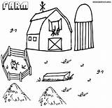 Farm Coloring Pages Colorings Farm10 sketch template