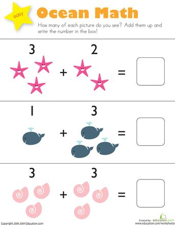 single digit addition for kindergarten education com