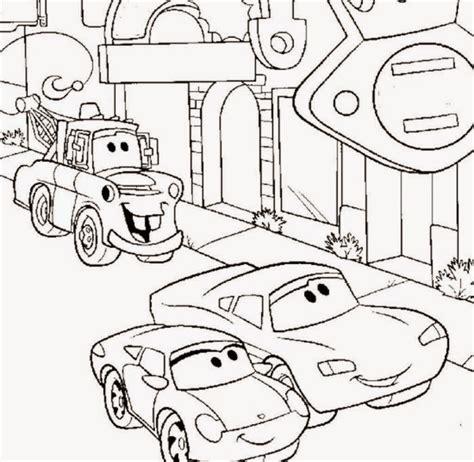 kumpulan gambar mewarnai disney cars terbaru untuk