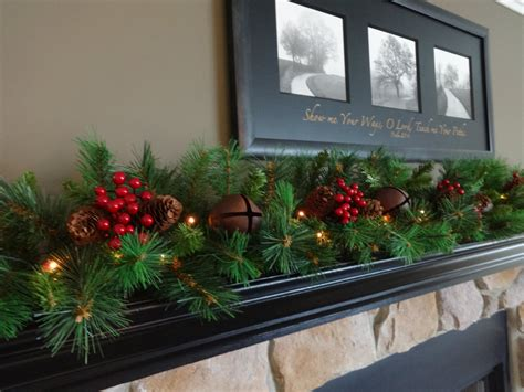 mantle garland mantel garland garland staircase