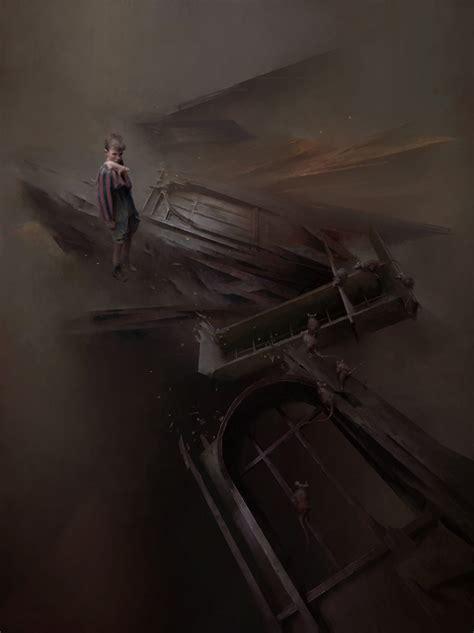 murky supernatural fantasy artwork  piotr jablonski