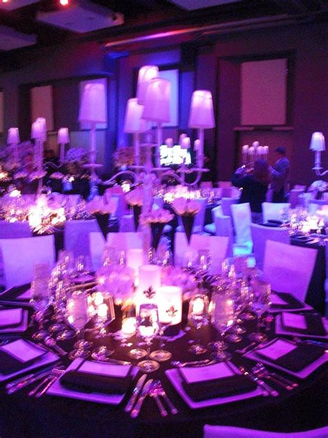 purple and black table settings purple and white wedding ideas