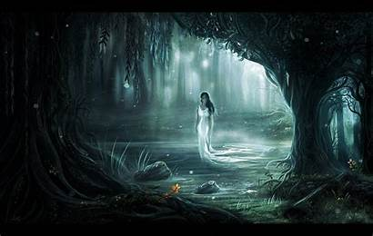 Ghost Forest Horror Ghostly Wallpapers Creepy Fantasy