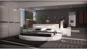 Lit Rond But : lit rond blanc arezzo un grand lit rond prix tout petit ~ Teatrodelosmanantiales.com Idées de Décoration