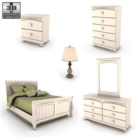 cottage retreat bedroom furniture cottage retreat sleigh bedroom set 3d model humster3d
