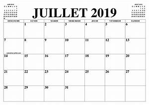 Calendrier Par Mois : calendrier juillet 2019 le calendrier du mois de juillet ~ Dallasstarsshop.com Idées de Décoration