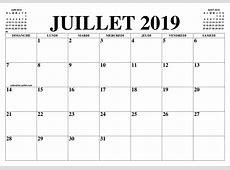 CALENDRIER JUILLET 2019 LE CALENDRIER DU MOIS DE JUILLET
