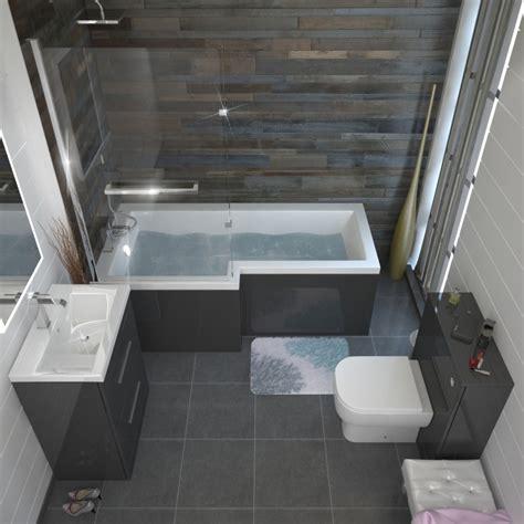 small bathroom tub ideas patello grey shower bath suite buy at bathroom city