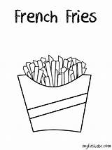 Coloring Fries French Template Abc Pages Templates Pdf Sketch Clip Coloringhome Cliparts sketch template