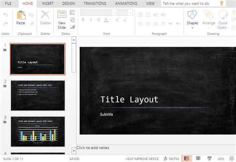 widescreen chalkboard powerpoint template