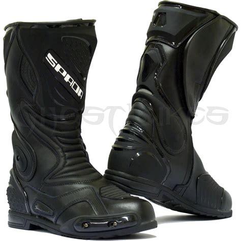 waterproof leather motorcycle boots spada st1 wp waterproof leather motorcycle motorbike race