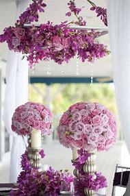 Purple Lavender and Silver Wedding Centerpieces
