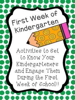 week  kindergarten activities
