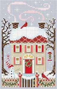 christmas winter cross stitch pattern free - Free Christmas Cross Stitch Patterns