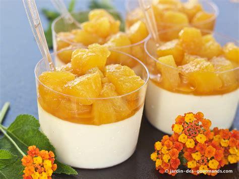 dessert avec de l ananas frais panna cotta 224 l ananas jardin des gourmandsjardin des gourmands