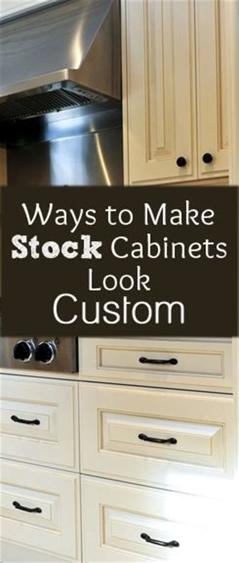 Ways To Make Stock Cabinets Look Custom My Diy Tips