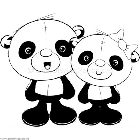 cute pandas coloring pages getcoloringpagesorg