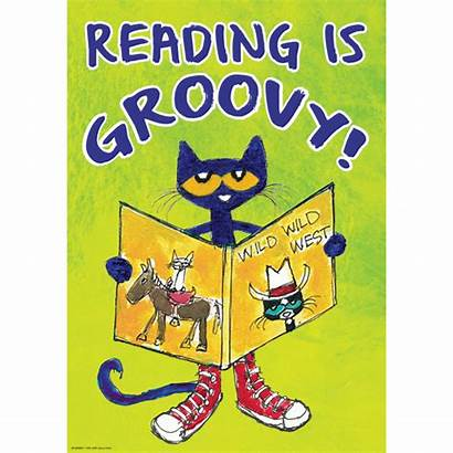 Pete Cat Posters Reading Poster Groovy Clipart
