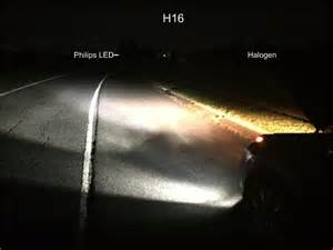 Le H11 Philips by H8 H11 H16 Philips X Treme Ultinon Led Bulbs Vs Halogen