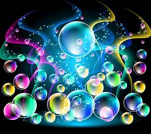 Abstract Bubbles Neon Bubble1 - Best Android Wallpapers