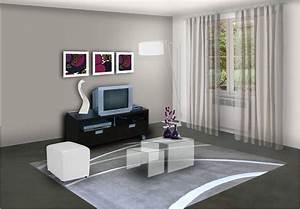 cuisine decoration peinture salon moderne deco maison With decoration maison salon moderne