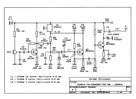 Transmitter Circuit Schematics Includding Bugging Device