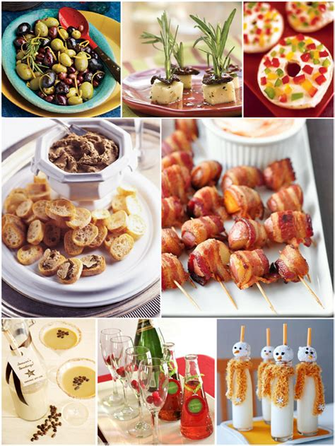 easy appetizers and cocktails ideas printables - Christmas Party Appetizer Menu Ideas