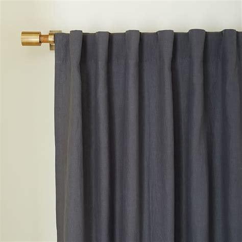 belgian flax linen curtain slate west elm