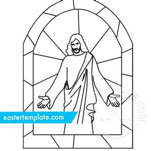 jesus resurrection stained glass easter template