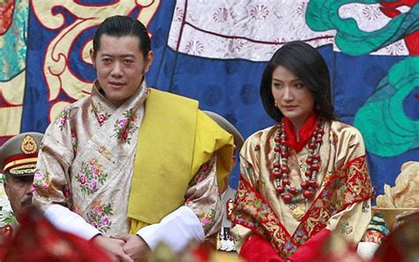 video bhutans dragon king weds student  traditional