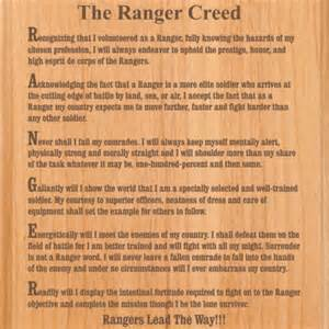 Army Ranger Creed Plaque