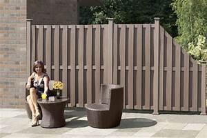 Wpc Zaun Braun : wpc zaun wpc sichtschutz braun 90x180 90cm bei ~ Michelbontemps.com Haus und Dekorationen