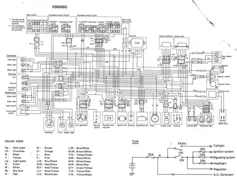 1981 Yamaha 400 X Wiring Image by Xs650 80 Xs650g And Sg Wiring Diagrams Thexscafe