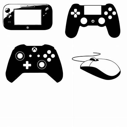 Controller Ps4 Vector Xbox Icon Playstation Silhouette
