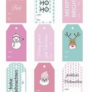 Geschenkanhänger Weihnachten Drucken : free printable friday geschenkanh nger zum ausdrucken rosanisiert ~ Eleganceandgraceweddings.com Haus und Dekorationen