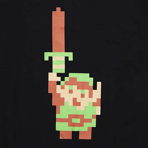 Legend Of Zelda 8bit Link Tee  Exclusive Thinkgeek