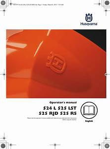 Husqvarna Brush Cutter 524 L Users Manual Om  L  525 Lst