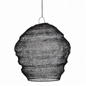Suspension Fil De Fer : madam stoltz abat jour suspension fil de fer noir tresse 17371bl ~ Teatrodelosmanantiales.com Idées de Décoration
