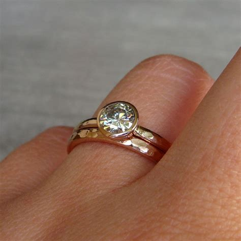 eco friendly engagement rings engagement ring moissanite and recycled 14k gold eco friendly