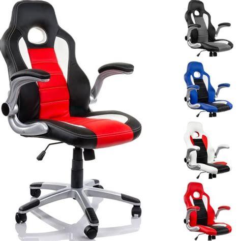 fauteuil bureau racer fauteuil de bureau racing noir blanc achat