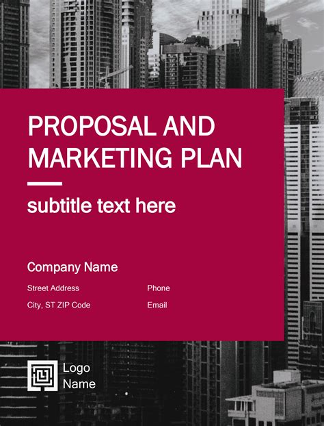 business plan proposal templates  word docx